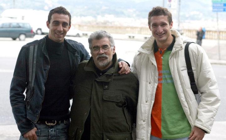 Alessandro Rialti con Chiellini e Dainelli, foto da ViolaChannel